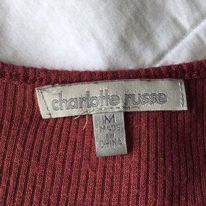 Charlotte Russe Tops - Charlotte Russe Burgundy HiLo Tank